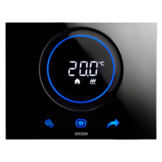 THERMO ICE TERMOSTATO DE SUPERFICIE KNX/EASY - NEGRO