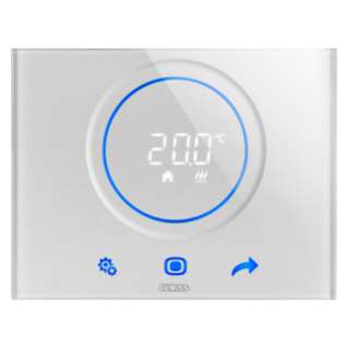 THERMO ICE THERMOSTAT- WALL-MOUNTING - TITANIUM - KNX/EASY