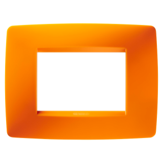 ONE PLATE - IN TECHNOPOLYMER - 3 GANG - OPAL ORANGE - CHORUS