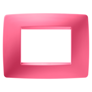 ONE PLATE - IN TECHNOPOLYMER - 3 GANG - SAPPHIRE PINK - CHORUS