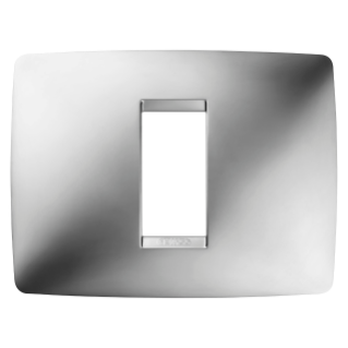 ONE PLATE - IN METALLISED TECHNOPOLYMER - 1 GANG - CHROME - CHORUS