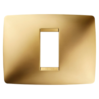 ONE PLATE - IN METALLISED TECHNOPOLYMER - 1 GANG - GOLD - CHORUS