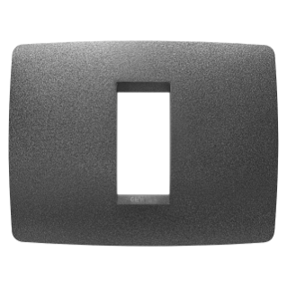 ONE PLATE - IN PAINTED TECHNOPOLYMER - 1 GANG - SLATE - CHORUS