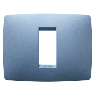 ONE PLATE - IN PAINTED TECHNOPOLYMER - 1 GANG - SEA BLUE - CHORUS