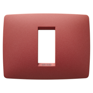 ONE PLATE - IN PAINTED TECHNOPOLYMER - 1 GANG - RUBY - CHORUS