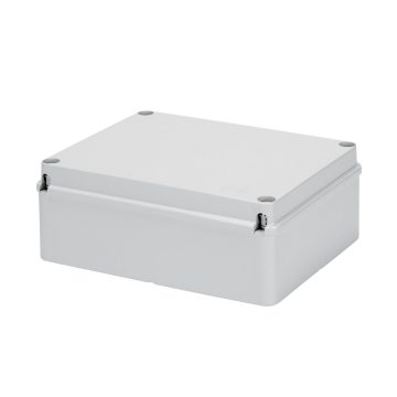 Junction boxes with plain screwed lid - IP56 - Grey RAL 7035