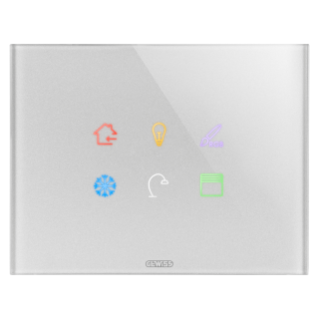 ICE TOUCH PLATE KNX - GLASS - 6 TOUCHES AREA - TITANIUM - CHORUS