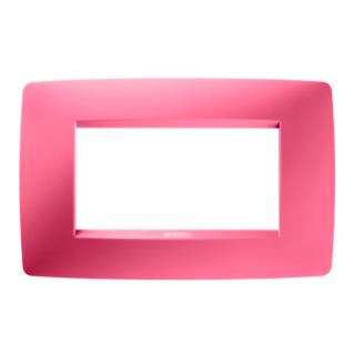ONE PLATE - IN TECHNOPOLYMER - 4 GANG - SAPPHIRE PINK - CHORUS