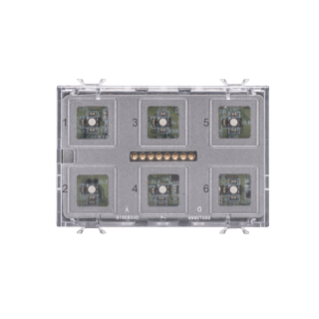 PUSH BUTTON PANEL MODULE  - EASY - TOUCH - 6 CHANNELS - 3 MODULES - WITH INTERCHANGEABLE SYMBOL - CHORUS