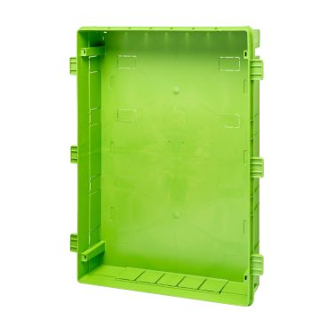 Back mounting box for flush mounting Home Networking enclosure