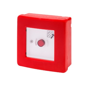 Watertight enclosure for emergency systems, equipped with illuminated push-button and 2 contacts 1NO+1NC that can be expanded up to 4 contacts Pre-arrangement for use of green LED to indicate the good condition of the emergency circuit