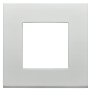 DAHLIA PLATE - IN TECHNOPOLYMER - 1 GANG - LIGHT GREY