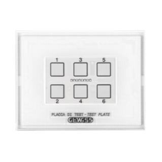 TEST PALTE - FOR KNX/EASY PUSH BUTTON PANEL MODULE - WITH INTERCHANGEABLE SYMBOL - CHORUS