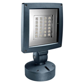 SATURNO - LED - WITH BASE - STREET OPTIC - 24 LED - 3000K (CRI 90) - 220/240V- 50/60HZ - IP65 - CLASS II - MIDNIGHT BLUE
