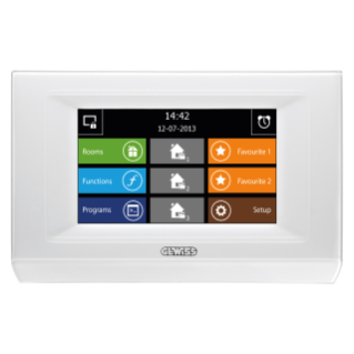 "NAXOS - DOMO TOUCH PANELS - COMMAND AND VISUALISATION - KNX/EASY - 4,3"" -  WHITE"
