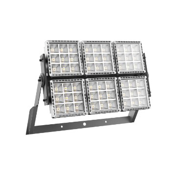 High power floodlight made in die cast aluminium - 6 modules - Equivalent to 1000 W MT - IP66 - class I
