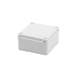 JUNCTION BOX WITH PLAIN QUICK FIXING LID - IP55 - INTERNAL DIMENSIONS 100X100X50 - SMOOTH WALLS - GREY RAL 7035