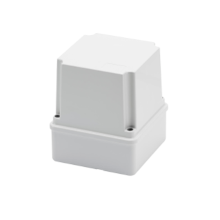 JUNCTION BOX WITH DEEP SCREWED LID - IP56 - INTERNAL DIMENSIONS 100X100X120 - SMOOTH WALLS - GWT960ºC - GREY RAL 7035