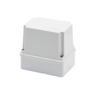 JUNCTION BOX WITH DEEP SCREWED LID - IP56 - INTERNAL DIMENSIONS 120X80X120 - SMOOTH WALLS - GWT960ºC - GREY RAL 7035
