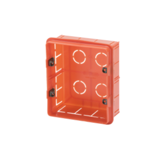 RECTANGULAR BOXES - 6 GANG (3+3)- WITH METAL FIXING INSERTS - 108x124x50
