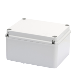 JUNCTION BOX WITH HIGH CAPACITY BOTTOM AND PLAIN SCREWED LID - IP56 - INTERNAL DIMENSIONS 380X300X170 - SMOOTH WALLS - GREY RAL 7035