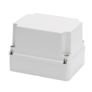 JUNCTION BOX WITH DEEP SCREWED LID - IP56 - INTERNAL DIMENSIONS 190X140X140 - SMOOTH WALLS - GREY RAL 7035