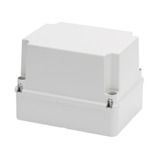 BOX FOR JUNCTIONS AND FOR ELECTRIC AND ELECTRONIC EQUIPMENT - WITH BLANK DEEP LID - IP56 - INTERNAL DIMENSIONS 240X190X160 - WITH SMOOTH WALLS