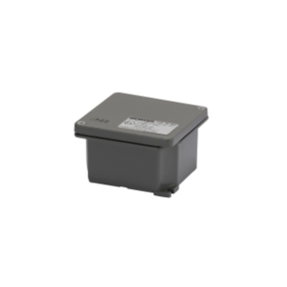 JUNCTION BOX IN DIE-CAST ALUMINIUM - PAINTED GREY RAL 7037 - 91X91X54