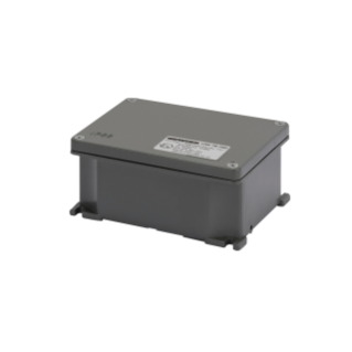 JUNCTION BOX IN DIE-CAST ALUMINIUM - PAINTED GREY RAL 7037 - 155X130X58