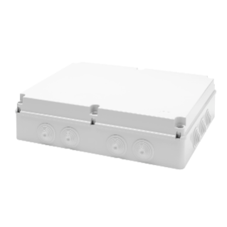 JUNCTION BOX WITH PLAIN SCREWED LID - IP55 - INTERNAL DIMENSIONS 460X380X120 - WALLS WITH CABLE GLANDS - GWT960ºC - GREY RAL 7035