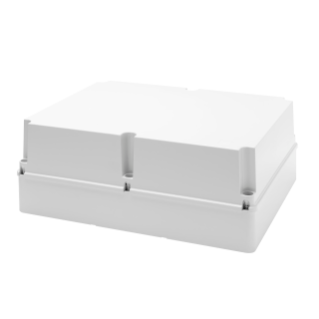 JUNCTION BOX WITH DEEP SCREWED LID - IP56 - INTERNAL DIMENSIONS 460X380X180 - SMOOTH WALLS - GREY RAL 7035