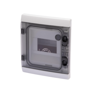 WATERTIGHT FLUSH-MOUNTING MODULAR ENCLOSURE - 6 MODULES - IP55 GREY RAL 7035