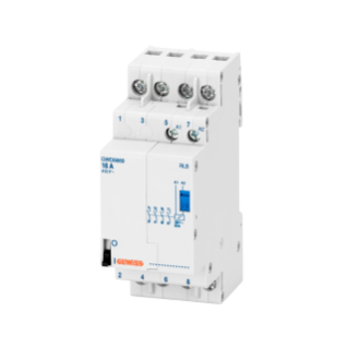 LATCHING RELAY - 16A - 4NO 230V ac - 1 MODULE