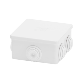 JUNCTION BOX WITH PLAIN PRESS-ON LID - IP44 - INTERNAL DIMENSIONS 80X80X40 - WALLS WITH CABLE GLANDS - GREY RAL 7035