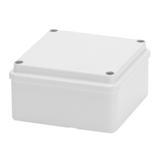 JUNCTION BOX WITH PLAIN SCREWED LID - IP56 - INTERNAL DIMENSIONS 100X100X50 - SMOOTH WALLS - GREY RAL 7035