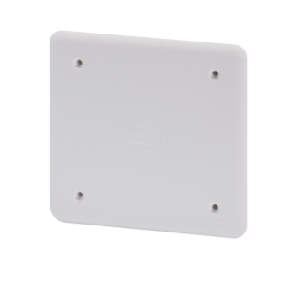 HIGH RESISTANCE SHOCKPROOF PLAIN LID - FOR PT/PT DIN AND PT DIN GREEN WALL BOXES - 92X92 - IP40 - WHITE RAL9016