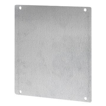 Steel back-mounting plates with anti-corrosion treatment for the assembly of non-modular equipment