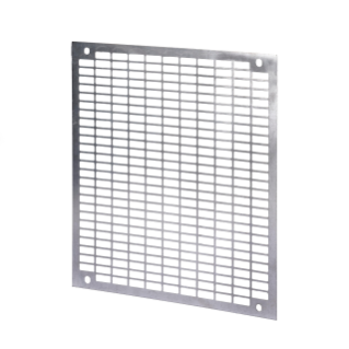 PERFORATED BACK-MOUNTING PLATE - IN GALVANISED STEEL - FOR BOARDS 310X425