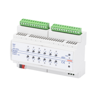 ACTUATOR - MANUAL COMMAND - 6/12 CHANNELS 8 AX - KNX - 8 MODULES - DIN RAIL MOUNTING