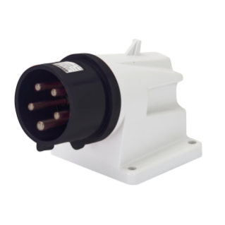 90° ANGLED SURFACE MOUNTING INLET - IP44 - 3P+N+E 16A 480-500V 50/60HZ - BLACK - 7H - SCREW WIRING