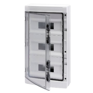 Distribution boards with panels with window and extractable frame predisposed for terminal block - Grey RAL 7035