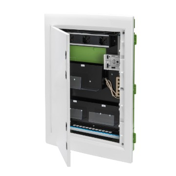 Home Network enclosure with blank door for network cabling
