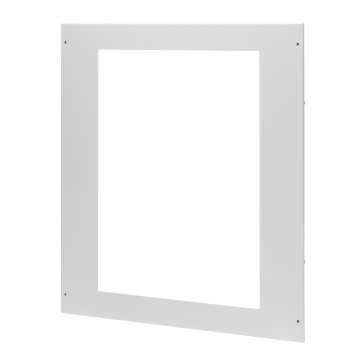 Windowed metal underdoor function panel for network enclosure kit
