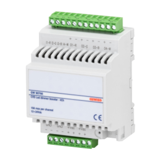 BOOSTER FOR CVD LED DIMMER - 4 CHANNELS-  10A - EASY - 4 MODULES - DIN RAIL MOUNTING