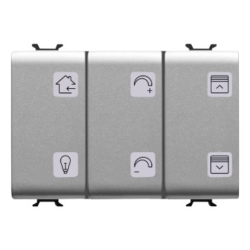 KNX 6-channel push-button panels with interchangeable symbols