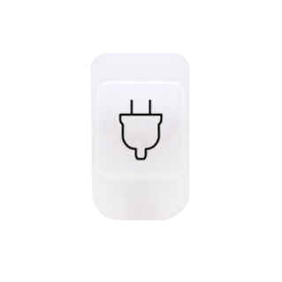 LENS WITH ILLUMINABLE SYMBOL - SOCKET-OUTLET