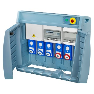 Q-BOX 6 - wired boards with interlocked sockets and fuse-holder equipped with terminal block - IP55