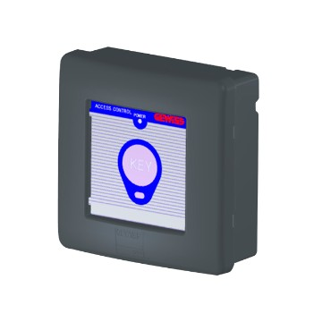 Surface-mounting transponder reader for access control - IP56