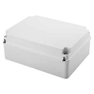 JUNCTION BOX WITH PLAIN SCREWED LID - IP56 - INTERNAL DIMENSIONS 300X220X120 - SMOOTH WALLS - GREY RAL 7035