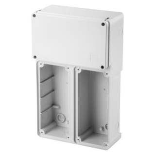 MODULAR BASE FOR MOUNTING COMBINATION OF FIXED VERTICAL SOCKET OUTLET - 2 16/32A SBF - IP55
